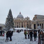 Plac św. Piotra w sniegu