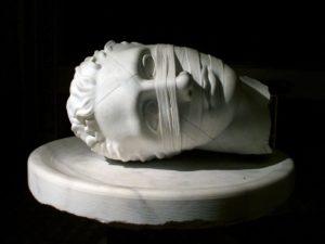 Rzym - bazylika Santa Maria degli Angeli - Igor Mitoraj - Głowa Jana Chrzciciela