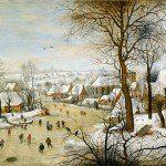 Zimowy pejzaż z pułapką na ptaki (Peter Brueghel Starszy)