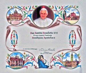 Dyplom błogosławieństwa papieskiego