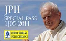 Karta pielgrzyma JPII SPECIAL PASS