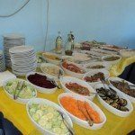 Ośrodek kolonijny w Rimini - sałatki obiadowe