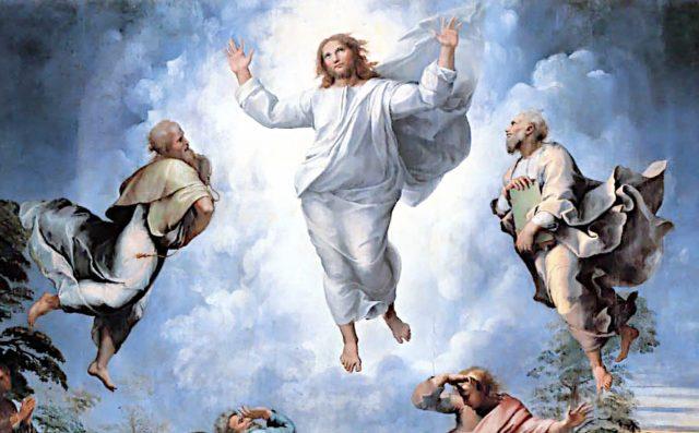 Rafael - Przemienienie Pańskie (fragment, Pinakoteka Watykańska)