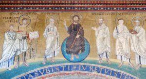 Rzym - bazylika San Lorenzo - mozaika