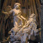 Rzym zabytki - kościół Santa Maria della Vittoria - Ekstaza św. Teresy (Bernini)