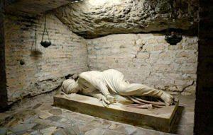 Rzym - katakumby św. Kaliksta - figura św. Cecylii