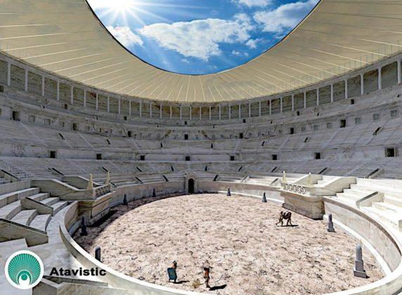 Koloseum - wyobrażenie areny