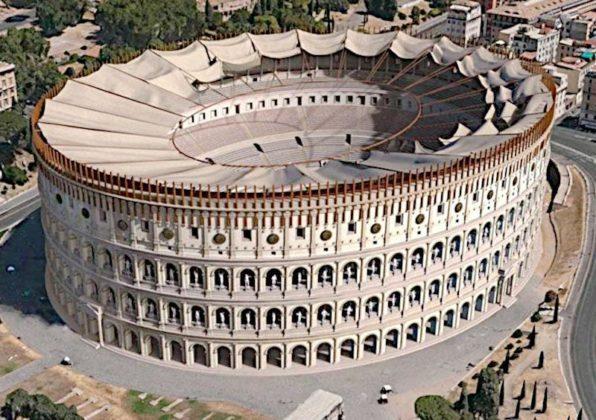 Koloseum - rekonstrukcja dachu