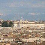 Pałac na Kwirynale - widok z kopuły bazyliki św. Piotra w Watykanie