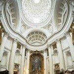 Rzym - kościół św. Karola Boromeusza przy Czterech Fontannach - wnętrze
