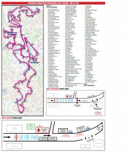 Rzym - trasa maratonu