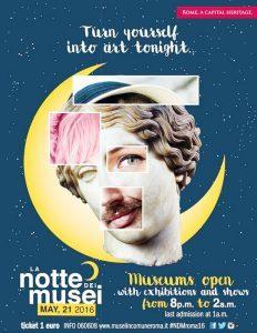 Rzym NOC MUZEÓW 2016 - plakat