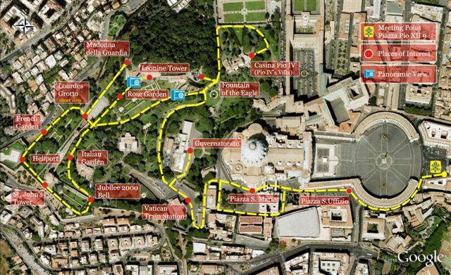 Zwiedzanie Ogrodów Watykańskich - trasa ninibusu ORP