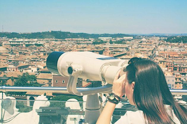 Rzym - panorama miasta z Ołtarza Ojczyzny