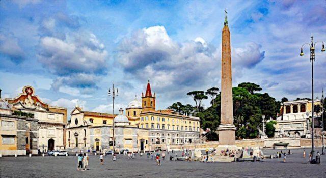 Plac Del Popolo w Rzymie
