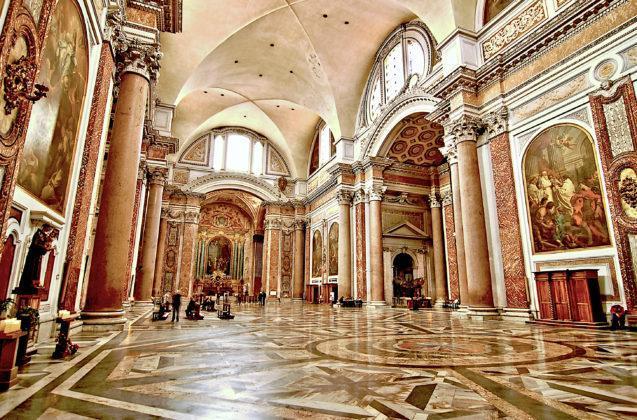 Rzym - Santa Maria degli Angeli - wnętrze