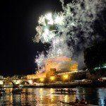 Zamek Anioła - sztuczne ognie na święto Piotra i Pawła