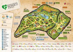 Mapa ogrodu zoologicznego w Rzymie