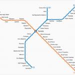 Rzym - mapa stacji metra