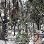 Autorka z bałwankiem - wzgórze Pincio w Rzymie