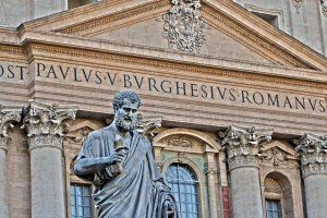 Bazylika św. Piotra w Watykanie - fragment fasady