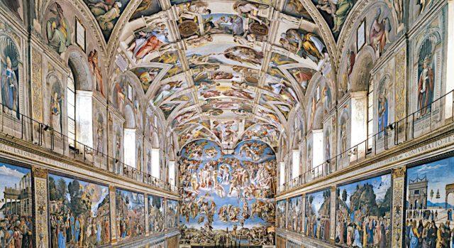 Watykan - Kaplica Sykstyńska - widok w stronę ołtarza
