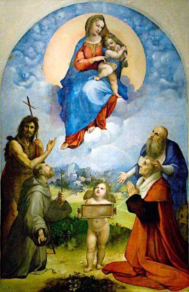Rafael - Madonna z Foligno (Pinacoteca Vaticana)