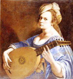 Artemizja Gentileschi - Autoportret z lutnią