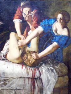 Obraz Artemizja Gentileschi - Judyta ucina głowę Holefernesowi