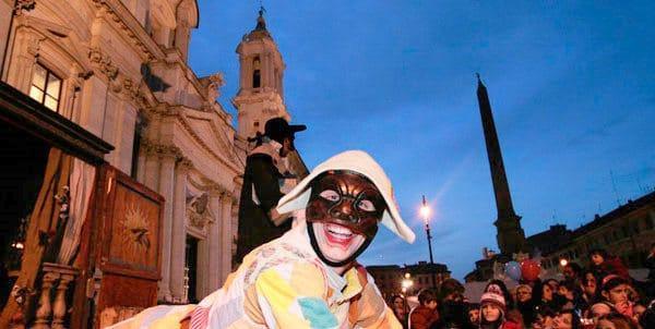 Karnawał w Rzymie - spektakl na placu Navona