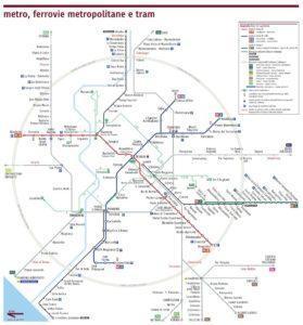 Rzym komunikacja miejska - mapa metra