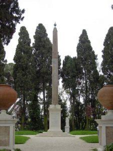 Rzym - obelisk z Villa Celimontana