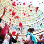 Uroczystość Zesłania Ducha Świętego w Panteonie - deszcz płatków róż