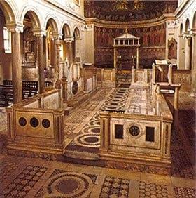 Rzym - bazylika San Clemente - schola cantorum