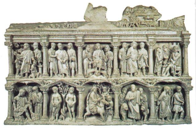 Skarbiec bazyliki - sarkofag Juniusa Bassusa